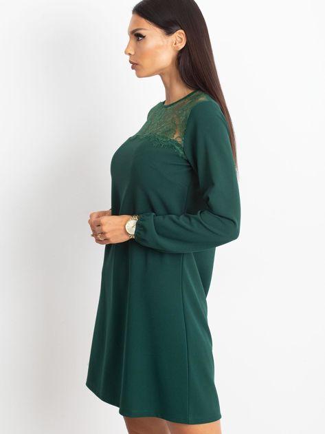 Ciemnozielona sukienka Bombay                              zdj.                              5