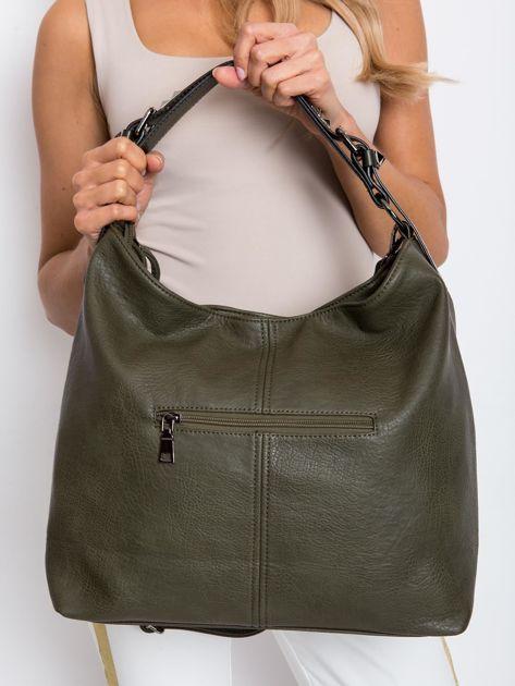 Ciemnozielona torba damska                              zdj.                              5