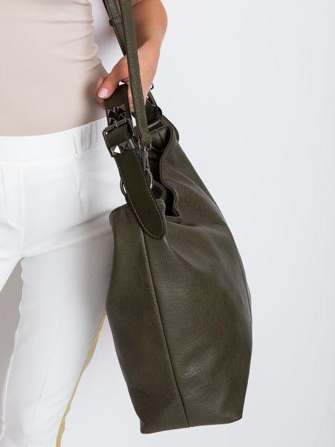 Ciemnozielona torba damska                              zdj.                              3