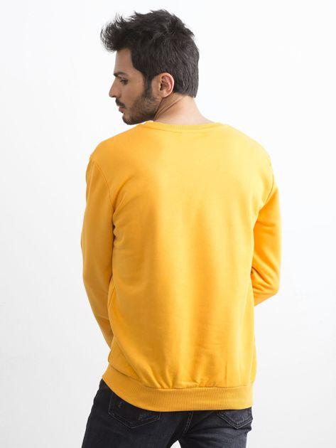 Ciemnożółta bawełniana bluza męska                              zdj.                              2