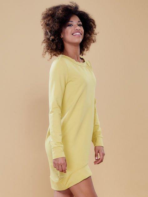 Ciemnożółta dresowa tunika basic                              zdj.                              5