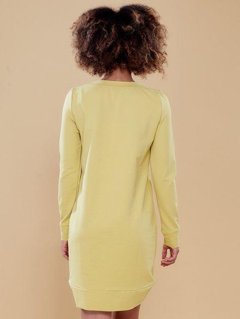 Ciemnożółta dresowa tunika basic                              zdj.                              7