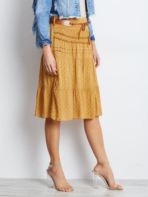 Ciemnożółta spódnica Charges                              zdj.                              3
