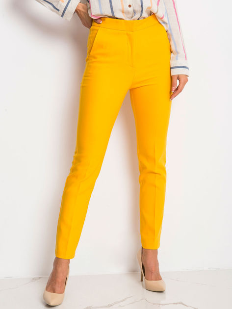 Ciemnożółte spodnie Favorite                              zdj.                              1