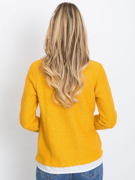 Ciemnożółty sweter Prestige                              zdj.                              2