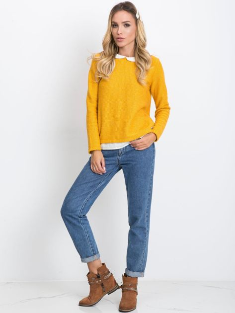 Ciemnożółty sweter Prestige                              zdj.                              4