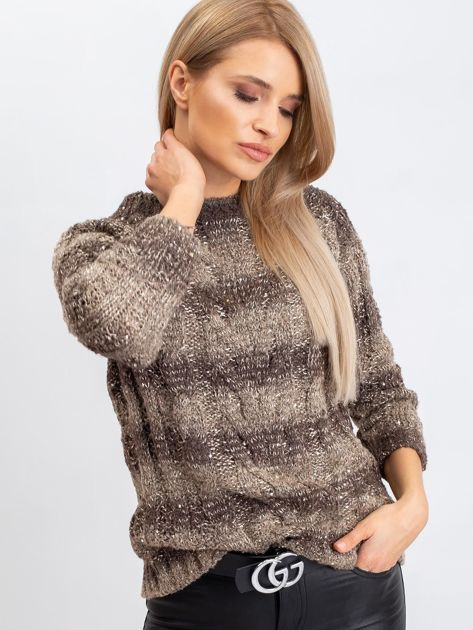 Ciemny khaki sweter Amelia                              zdj.                              1