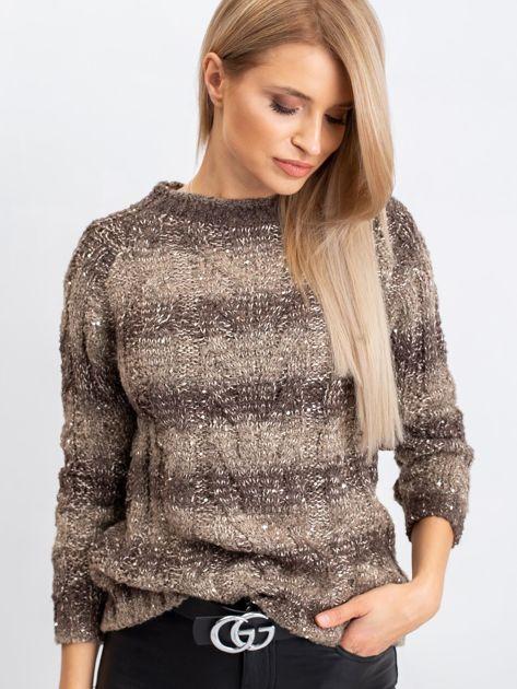Ciemny khaki sweter Amelia                              zdj.                              5