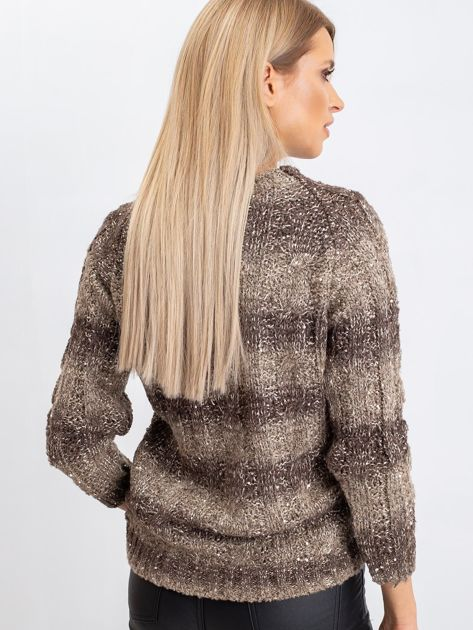 Ciemny khaki sweter Amelia                              zdj.                              2