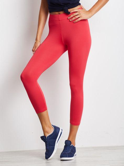 Cienkie legginsy sportowe o długości 7/8 fuksjowe                               zdj.                              1