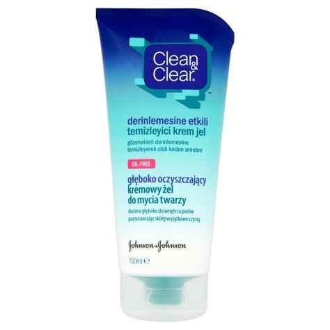 """Clean&Clear Kremowy żel głęboko oczyszczający do mycia twarzy  150ml"""""""