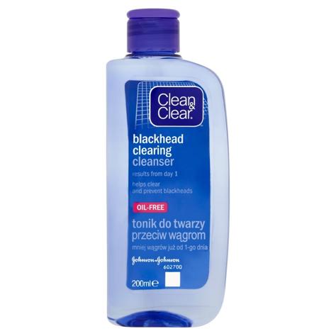 """Clean&Clear Oczyszczający tonik do twarzy przeciw wągrom 200ml"""""""