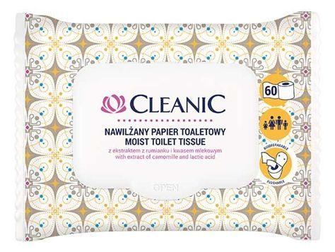 Cleanic Intimate Nawilżany papier toaletowy 1op.- 60 szt