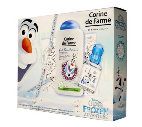 """Corine de Farme Disney Zestaw prezentowy Olaf's Frozen Adventure (edt 50ml+żel p/pr.250ml+gadżety)"""""""