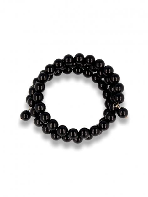 Czarna Bransoletka koralikowa                                  zdj.                                  1