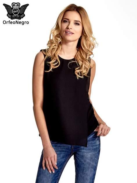 Czarna asymetryczna koszula