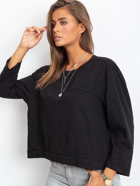 Czarna bawełniana bluza oversize                              zdj.                              6