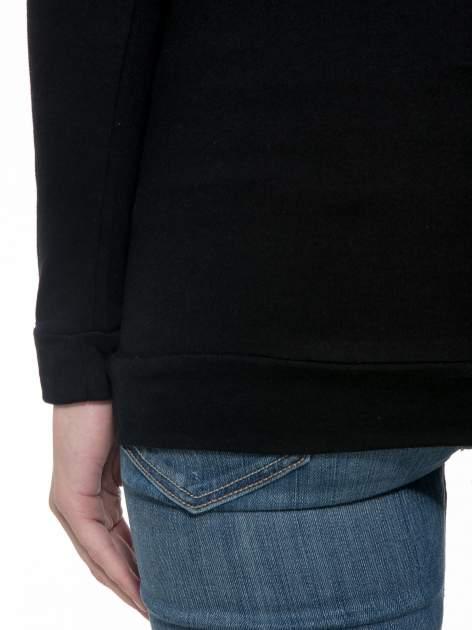 Czarna bawełniana bluzka z rękawami typu reglan                                  zdj.                                  8
