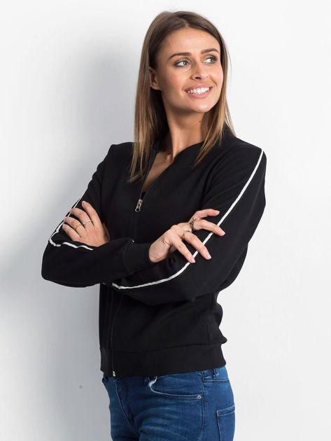 Czarna bluza Wirelessly                              zdj.                              3