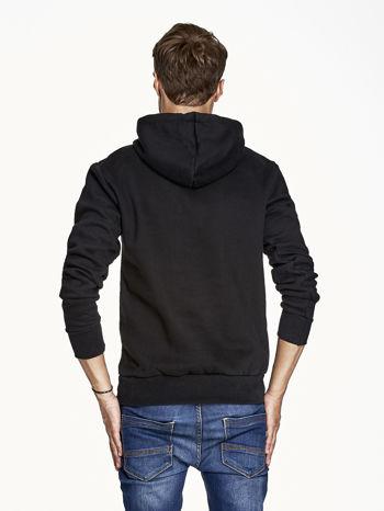 Czarna bluza męska z bokserskim nadrukiem                                  zdj.                                  2