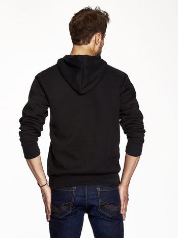 Czarna bluza męska z industrialnym nadrukiem