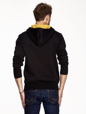 Czarna bluza męska z kapturem z nadrukiem reggae                                  zdj.                                  2