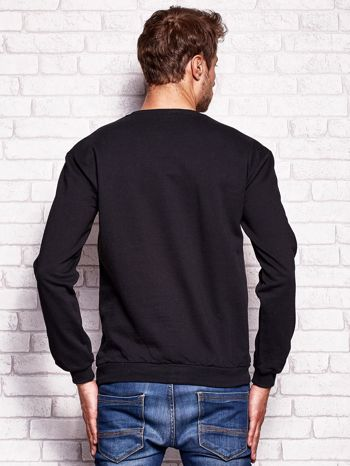 Czarna bluza męska z napisem BROOKLYN                                  zdj.                                  4