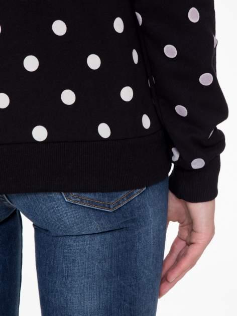 Czarna bluza w grochy z napisem JUST FRIEND                                  zdj.                                  9