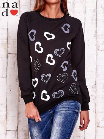 Czarna bluza w serduszka                                  zdj.                                  1