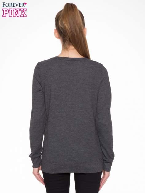 Czarna bluza z aplikacją tygrysa z cekinów                                  zdj.                                  4