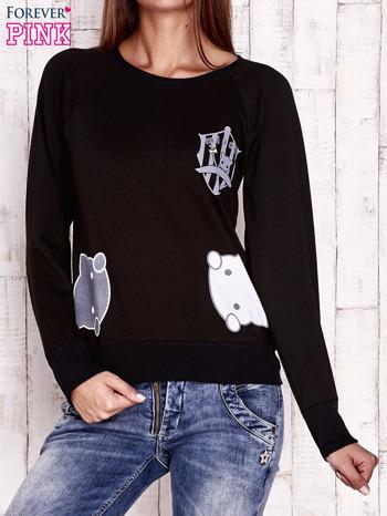 Czarna bluza z kocimi motywami                                  zdj.                                  1