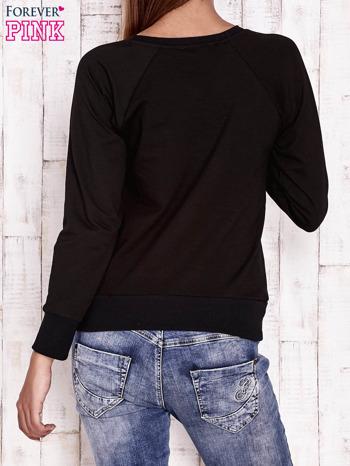 Czarna bluza z kocimi motywami                                  zdj.                                  2