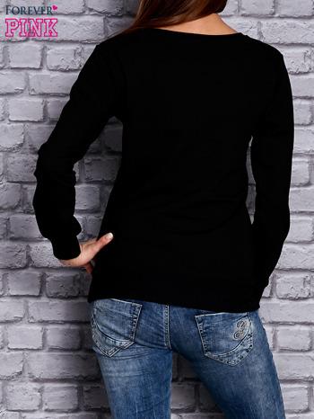 Czarna bluza z komiksowym nadrukiem                              zdj.                              2