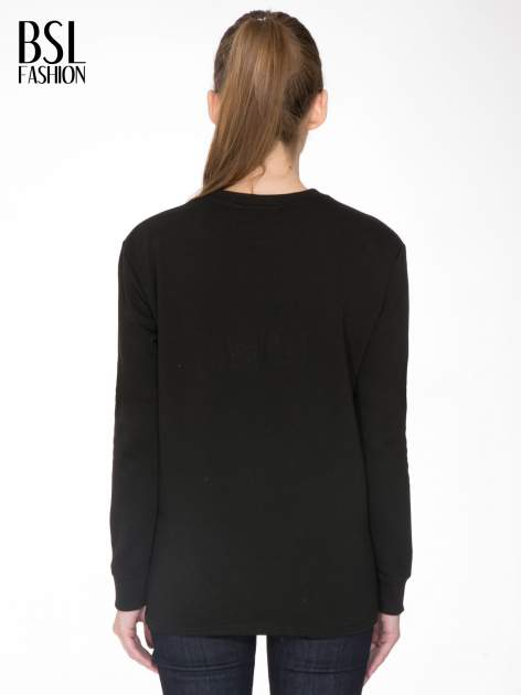Czarna bluza z nadrukiem CÉLINE PARIS                                  zdj.                                  4