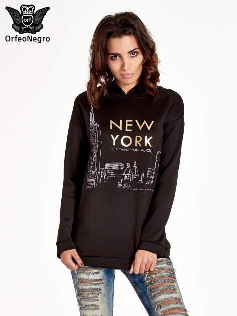 Czarna bluza z nadrukiem NEW YORK