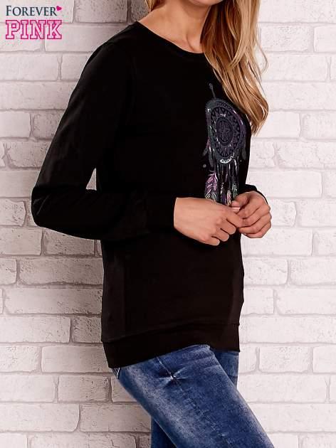 Czarna bluza z nadrukiem łapacza snów                                  zdj.                                  2