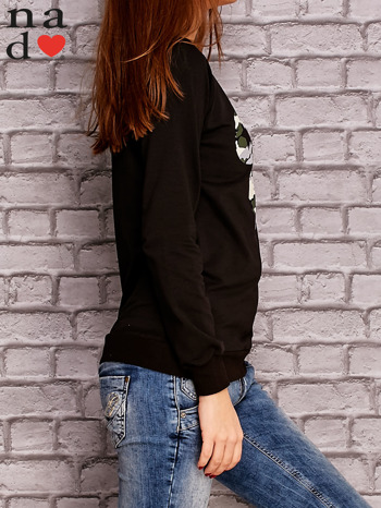 Czarna bluza z nadrukiem moro                                  zdj.                                  3