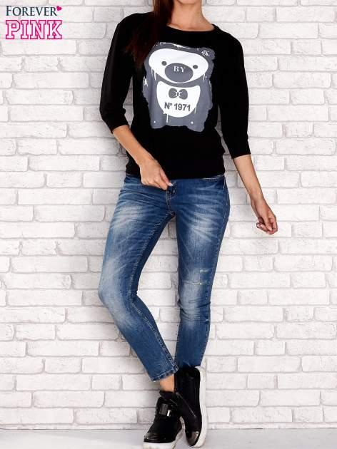Czarna bluza z nadrukiem pandy                                  zdj.                                  2