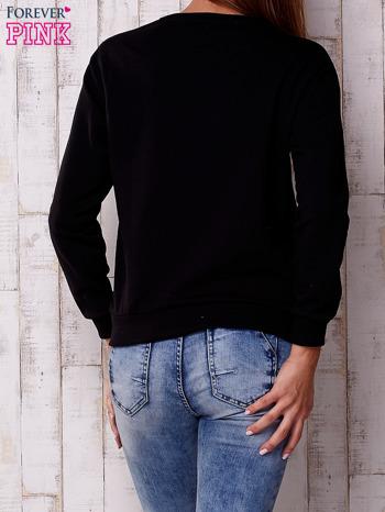 Czarna bluza z napisem                                  zdj.                                  4
