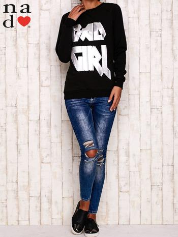 Czarna bluza z napisem BAD GIRL                                  zdj.                                  3