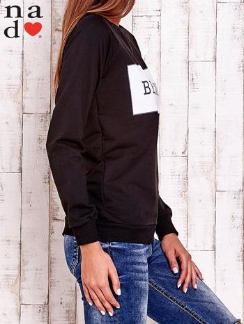 Czarna bluza z napisem BE NICE                                  zdj.                                  4