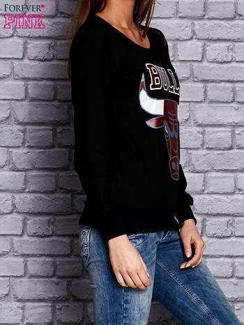 Czarna bluza z napisem BULLS                                  zdj.                                  3