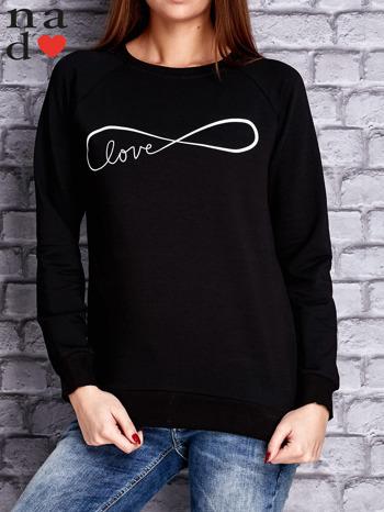 Czarna bluza z napisem LOVE                                  zdj.                                  1