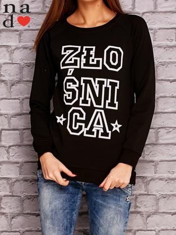 Czarna bluza z napisem ZŁOŚNICA                                  zdj.                                  1