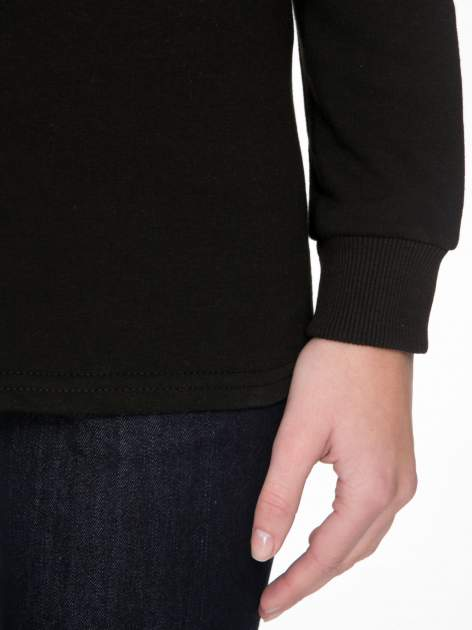 Czarna bluza z narukiem AIN'T LAURENT WITHOUT YVES                                  zdj.                                  6