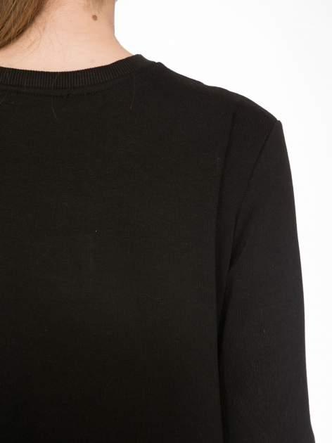 Czarna bluza z narukiem AIN'T LAURENT WITHOUT YVES                                  zdj.                                  7