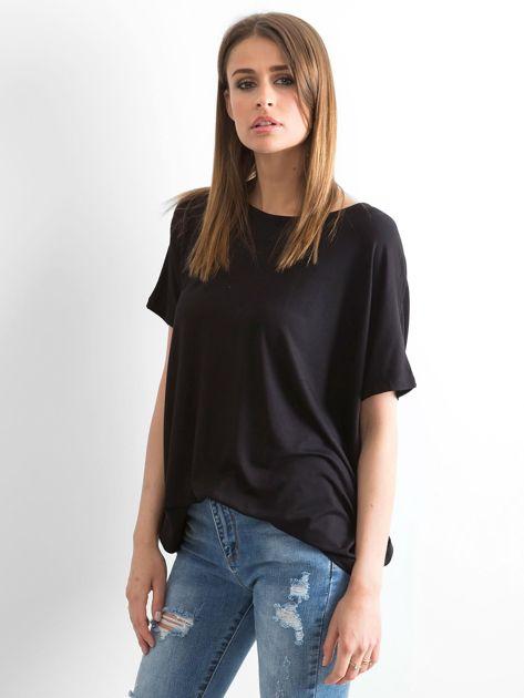 Czarna bluzka Oversize                              zdj.                              3