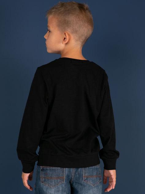 Czarna bluzka dla chłopca z bawełny                              zdj.                              4