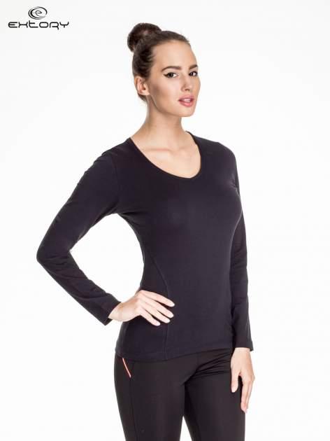 Czarna bluzka sportowa basic PLUS SIZE                                  zdj.                                  1