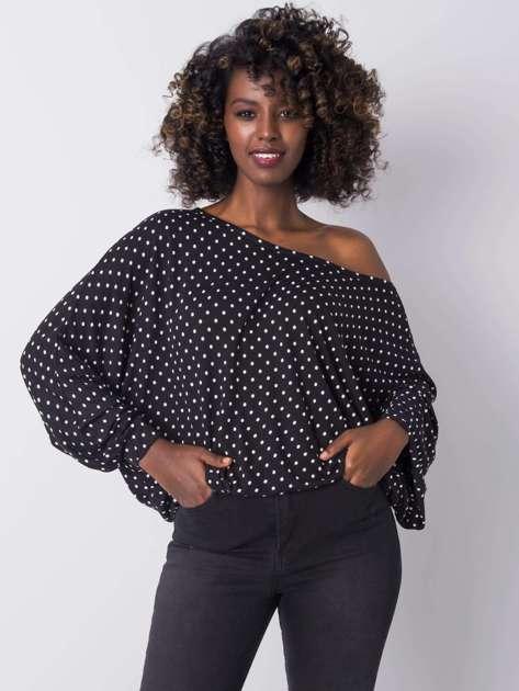 Czarna bluzka w groszki Dallia RUE PARIS